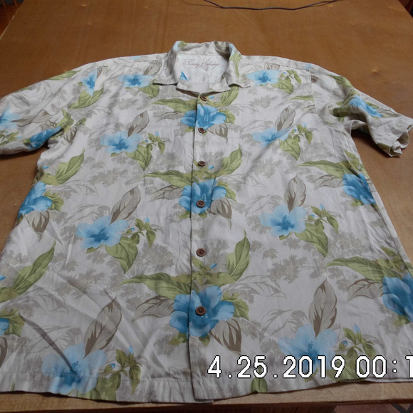 Tommy Bahama Other - Men's Tommy Bahama Silk Floral Shirt Lg